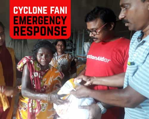 Cyclone Fani Donation Mobile Banner