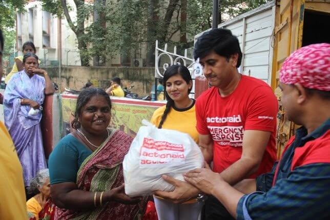 Relief kits are being distributed among flood affected families