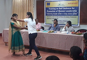 Training on Self Defence for Promotion of Women Leadership
