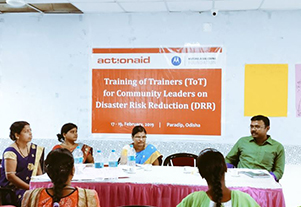 Training of Trainers for Community Leaders on Disaster Risk Reduction