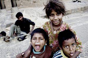 Joy of giving- Children smiling