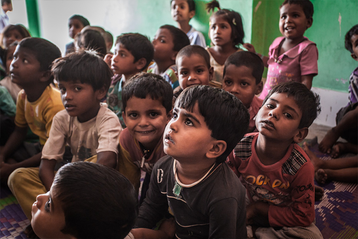 Daan Utsav - Children smiling image