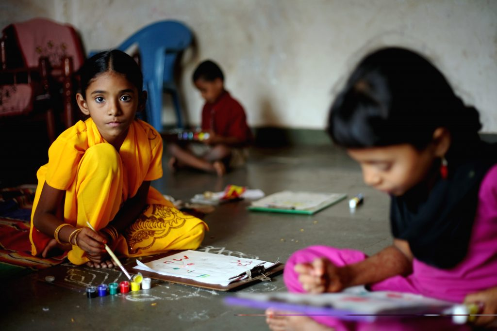 Children Studying, Diwali donation to ngo