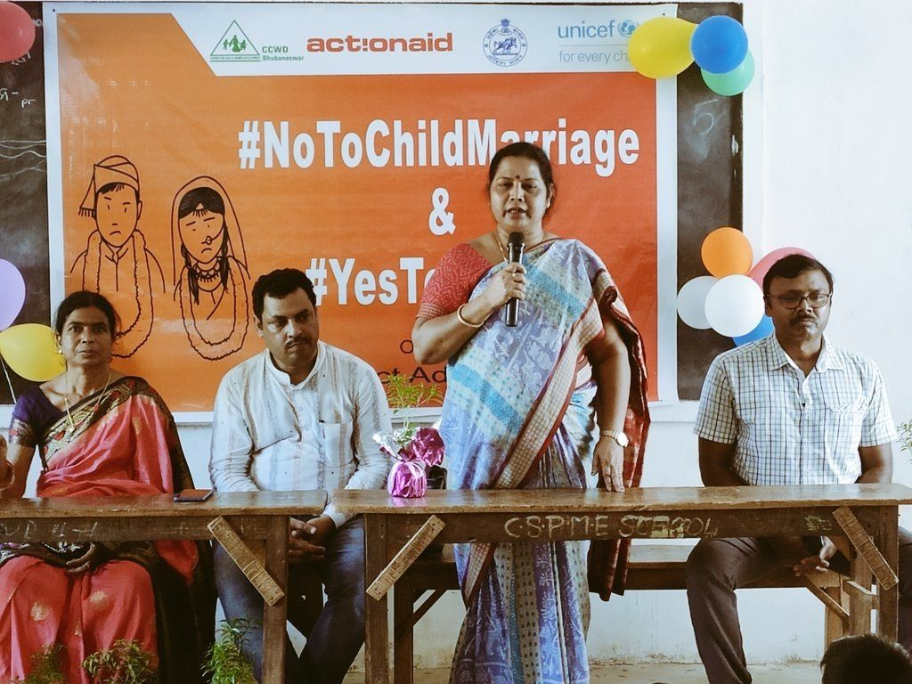 Awareness about no child marriage campaign