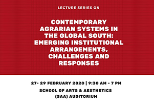 Lecture series: Contemporary Agrarian Systems in the Global South